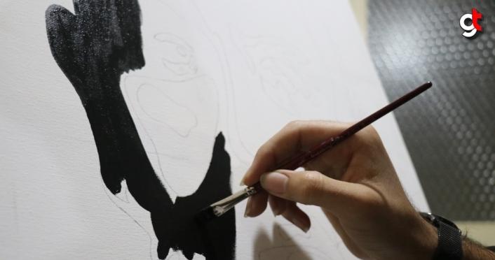 Afgan genç Mehmet Akif Ersoy sevgisini tabloya işledi