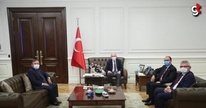 AK Parti Giresun Milletvekillerinden Bakan Soylu'ya ziyaret