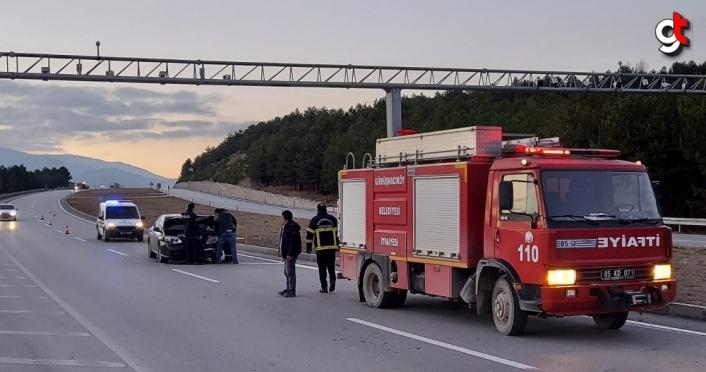 Amasya'da trafik kazası: 1 yaralı