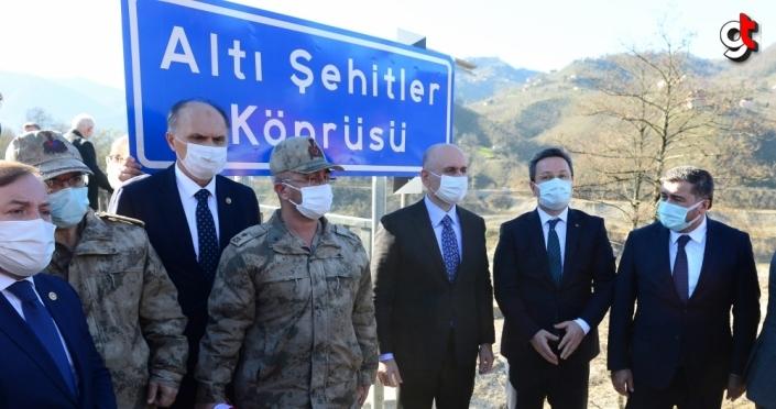 Bakan Karaismailoğlu, Altı Şehitler Köprüsü'nün açılışını yaptı: