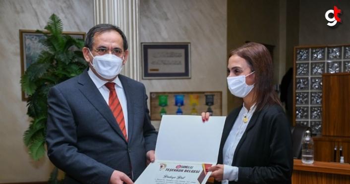 Büyükşehir Belediye Başkanı Demir'den, SAMULAŞ personeline Samsunspor forması