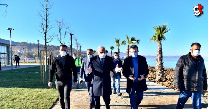 Büyükşehir Belediye Başkanı Zorluoğlu, Vakfıkebir'de incelemelerde bulundu