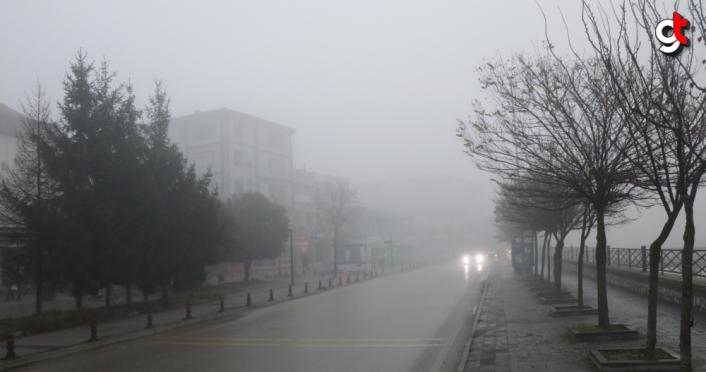 Düzce ve Bolu'da yoğun sis etkili oluyor