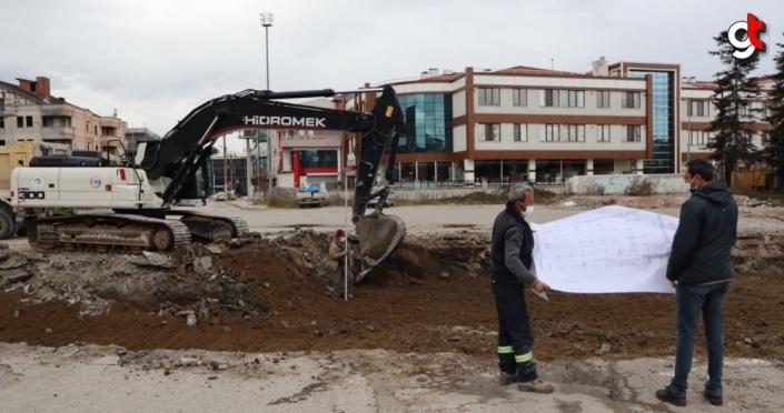 Düzce'de yeni itfaiye hizmet binası için çalışmalar başladı