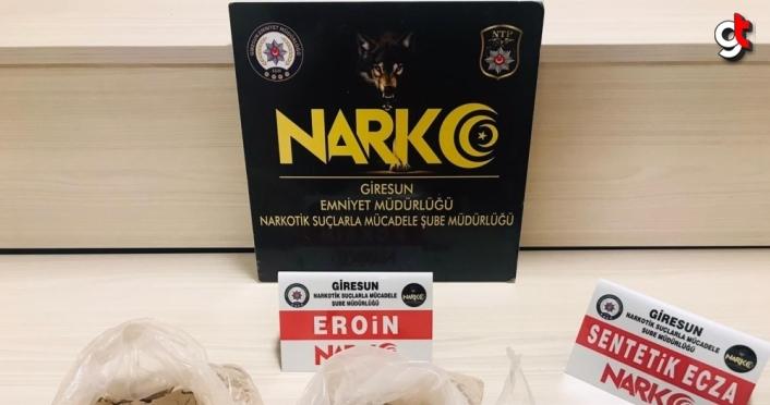 Giresun'da uyuşturucu operasyonunda yakalanan zanlı tutuklandı