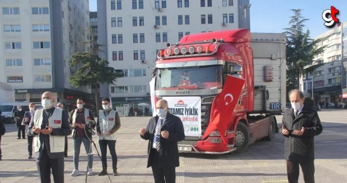 İHH'nın Suriye insani yardım tırları Samsun ve çevre illerinden yola çıktı