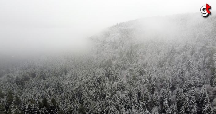 Karabük'te kar yağışı etkili oldu