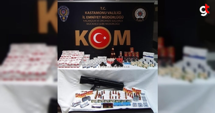 Kastamonu'da ilaç ve silah kaçakçılığı operasyonunda 2 kişi gözaltına alındı