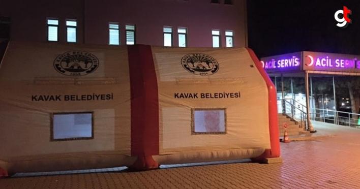Kavak Belediyesi, Coivd-19 çadırı kurdu