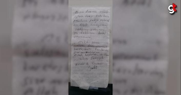 Kovid-19 hastası sağlık çalışanlarına peçeteye yazdığı notla teşekkür etti