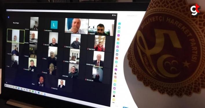 Samsun MHP telekonferans yöntemiyle toplantı yaptı
