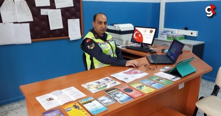 Samsun'da jandarma, öğrencilere internet üzerinden trafik eğitimi verdi