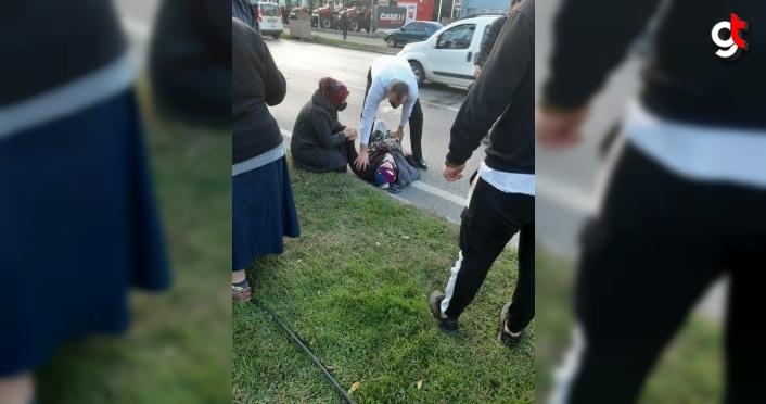 Samsun'da otomobilin çarptığı yaşlı kadın yaralandı