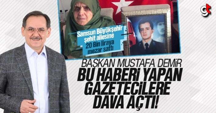 Şehit Ailesine mezar yeri haberine Mustafa Demir'den suç duyurusu