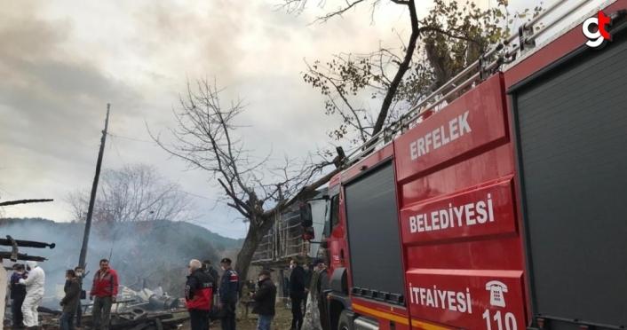 Sinop'ta çıkan ev yangınında yaşlı çift hayatını kaybetti