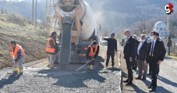 Tekkeköy Belediyesi yol çalışmalarına aralıksız devam ediyor