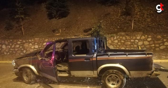 Tokat'ta kaza yapan kamyonet sürücüsüne Kovid-19 tedbirine uymama cezası