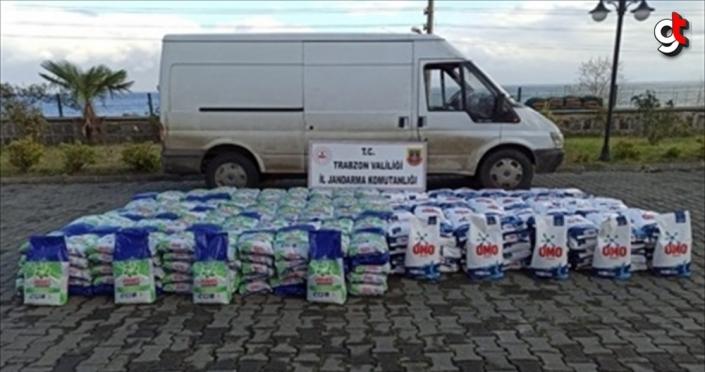 Trabzon'da 4 ton 100 kilogram sahte deterjan ele geçirildi