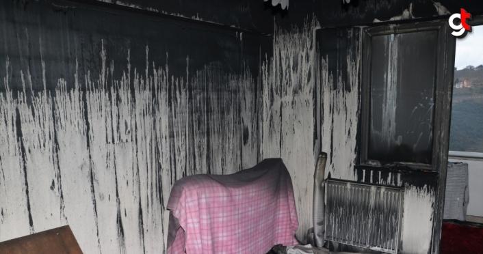 Trabzon'da apartmanda çıkan yangında 9 kişi dumandan etkilendi