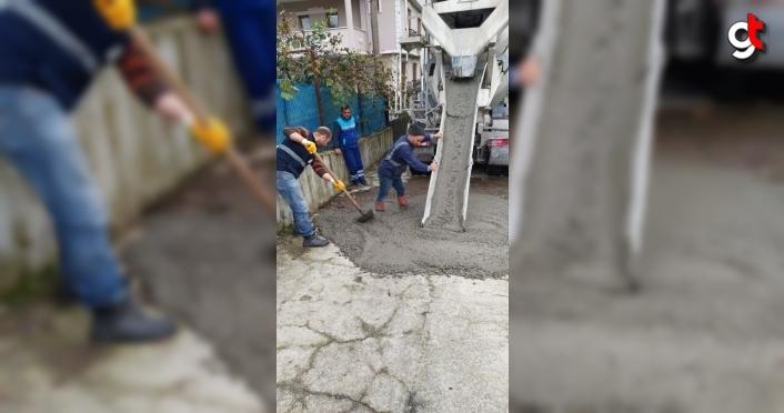 Trabzon'da bozulan yollar hızla onarılıyor