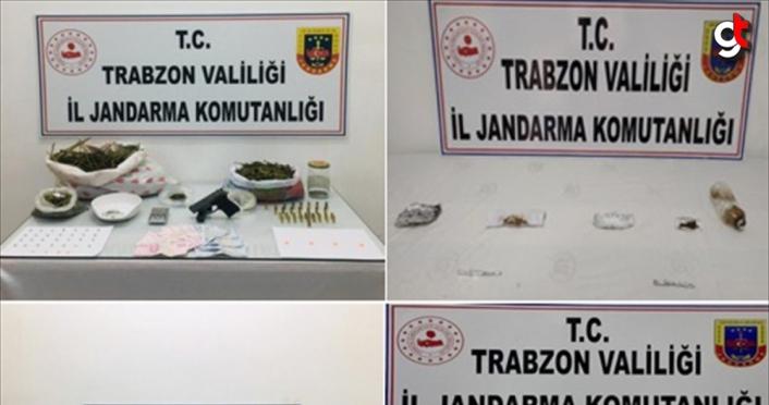 Trabzon'da uyuşturucu operasyonunda 5 kişi gözaltına alındı
