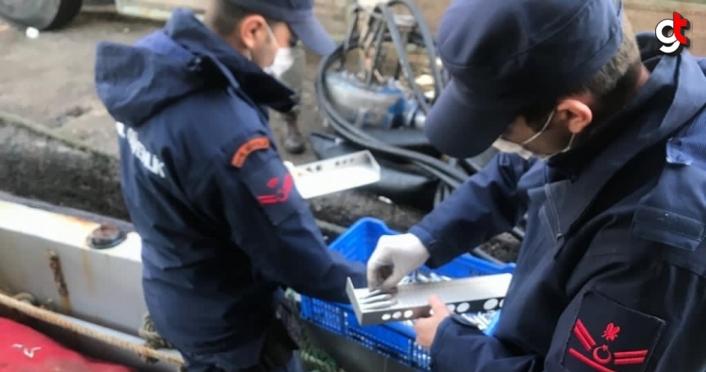 Zonguldak'ta 22 ton küçük boy hamsiye el konuldu