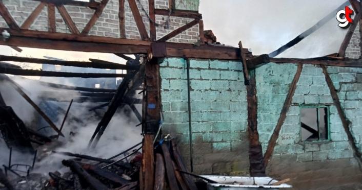 Zonguldak'ta evde çıkan yangında bir kişi öldü