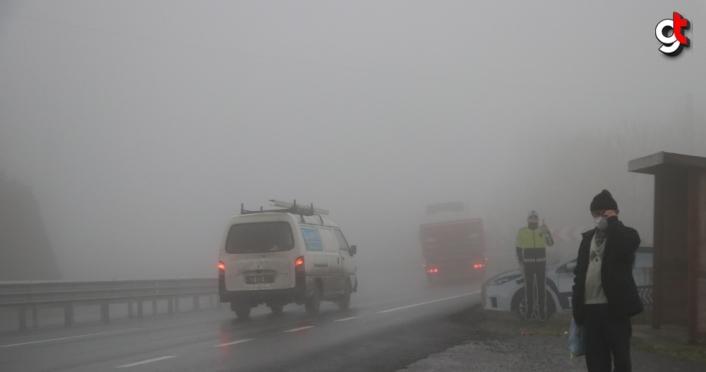 Zonguldak'ta yoğun sis etkili oluyor