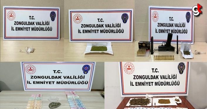 Zonguldak'taki uyuşturucu operasyonlarında yakalanan 31 zanlıdan 3'ü tutuklandı