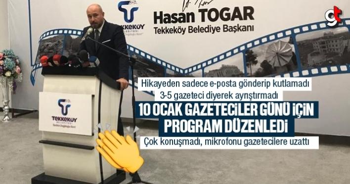 Başkan Hasan Togar, gazetecileri unutmadı