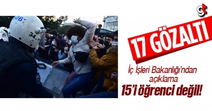 Boğaziçi Üniversitesi'nde eylemde gözaltına alınan 17 kişiden 15'i öğrenci değil