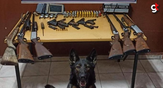 Bolu'da, tabanca, av tüfeği, el telsizi ve yer altı görüntüleme cihazı ele geçirildi