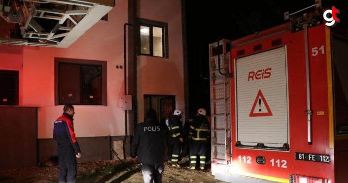 Düzce'de evini ateşe vererek kaçan şüpheli, kovalamaca sonucu yakalandı