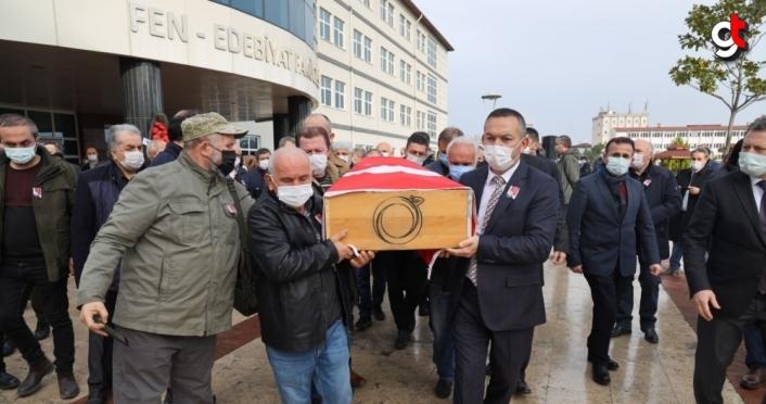 Kalp krizi nedeniyle ölen profesör için Ordu Üniversitesi'nde tören düzenlendi