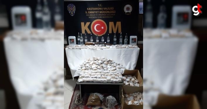 Kastamonu'da sahte içki ve sigara kaçakçılığı operasyonunda bir kişi yakalandı