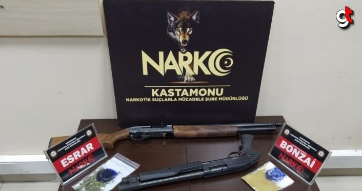 Kastamonu'da uyuşturucu operasyonlarında 3 kişi yakalandı