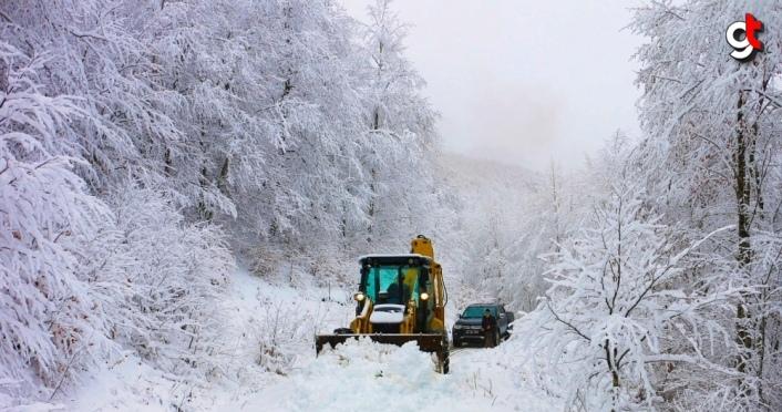 Ordu ve Giresun'un yüksek kesimlerinde kar yağışı etkili oluyor