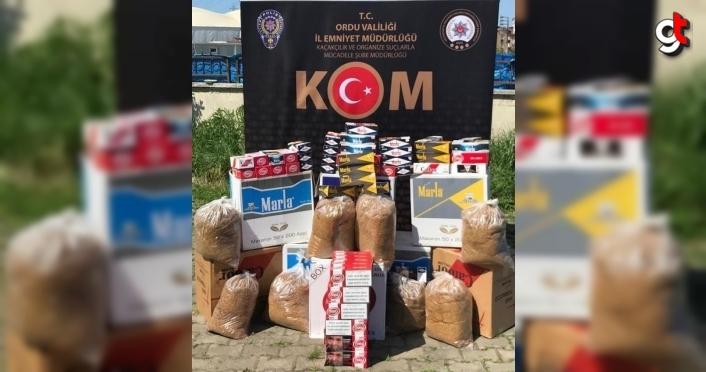 Ordu'da kaçak tütün operasyonunda 3 kişi gözaltına alındı