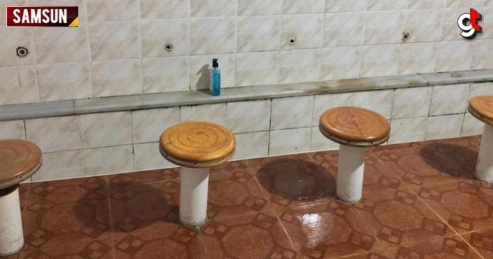 Samsun'da caminin abdesthane ve tuvaletindeki musluklar çalındı