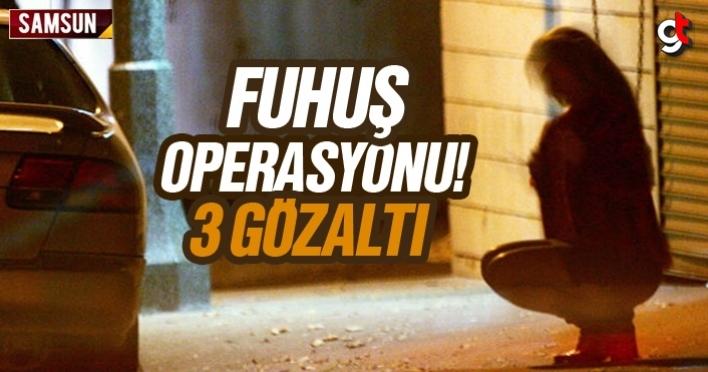 Samsun'da fuhuş operasyonunda 3 gözaltı