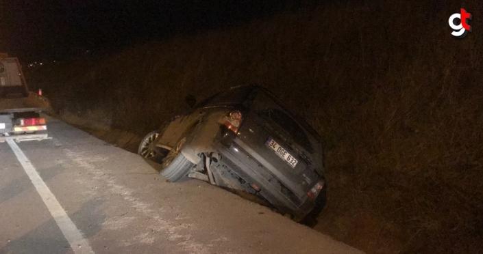 Samsun'da cip su kanalına devrildi: 1 yaralı