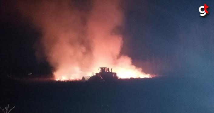 Samsun'da orman ve sazlıkta yangın çıktı