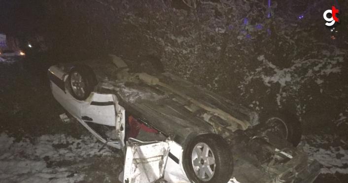 Samsun'da otomobil devrildi: 2 yaralı