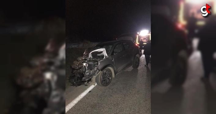 Samsun'da otomobille çarpışan traktörün sürücüsü öldü