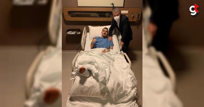 Trabzonsporlu futbolcu Abdülkadir Ömür, ameliyat edildi
