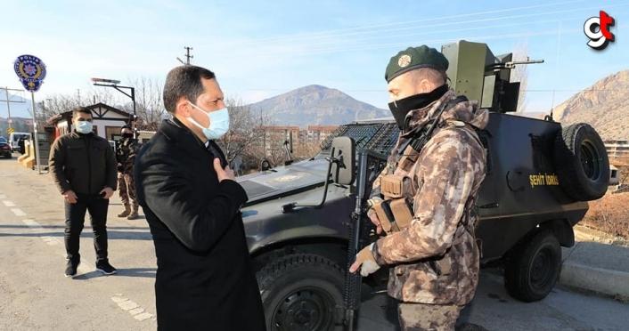 Vali Mustafa Masatlı, görev başındaki personellerin yeni yılını kutladı