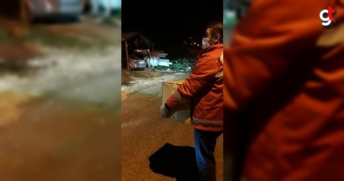 Yığılca'da ihtiyaç sahibi ailelere gıda kolisi dağıtıldı