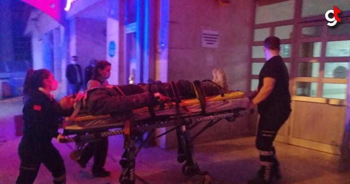 Zonguldak'ta çatıdan düşen kişi yaralandı