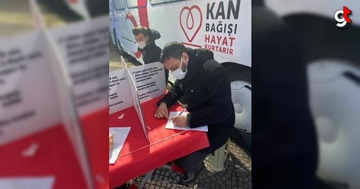 AK Parti İlkadım Gençlik Kollarından kan bağışı kampanyası