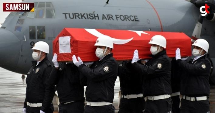 Gara'da şehit edilen Muhammet Salih Kanca'nın cenazesi Samsun'a getirildi
